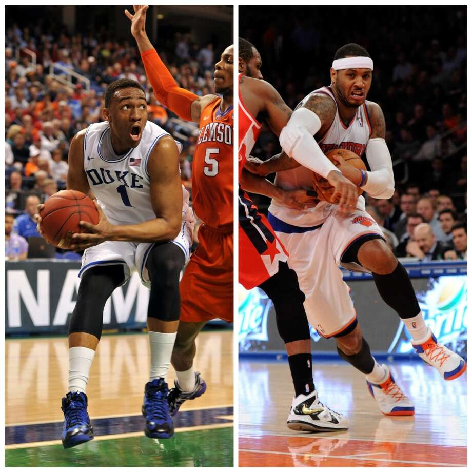 Jabari Parker 6-8, 235, Duke forward NBA comparison: Carmelo Anthony  Parker did not have anywhere near the NCAA Tournament experience of Anthony's, the key to a championship run, but he has similar offensive polish from the low post to the perimeter and is similarly underrated athletically. Photo: Getty Images