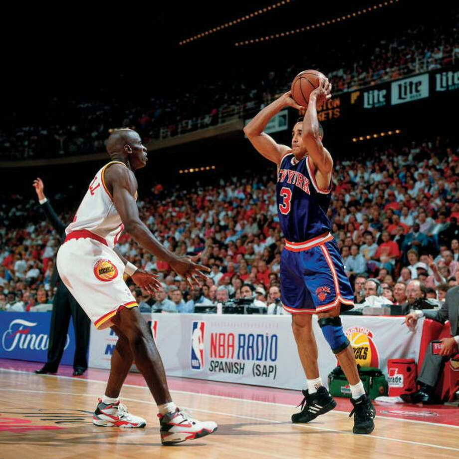 Game 1 - Wednesday, June 8, 1994Rockets 85, Knicks 78Houston leads series 1-0  John Starks looks to pass. Photo: Nathaniel S. Butler, NBAE/Getty Images / 1994 NBAE