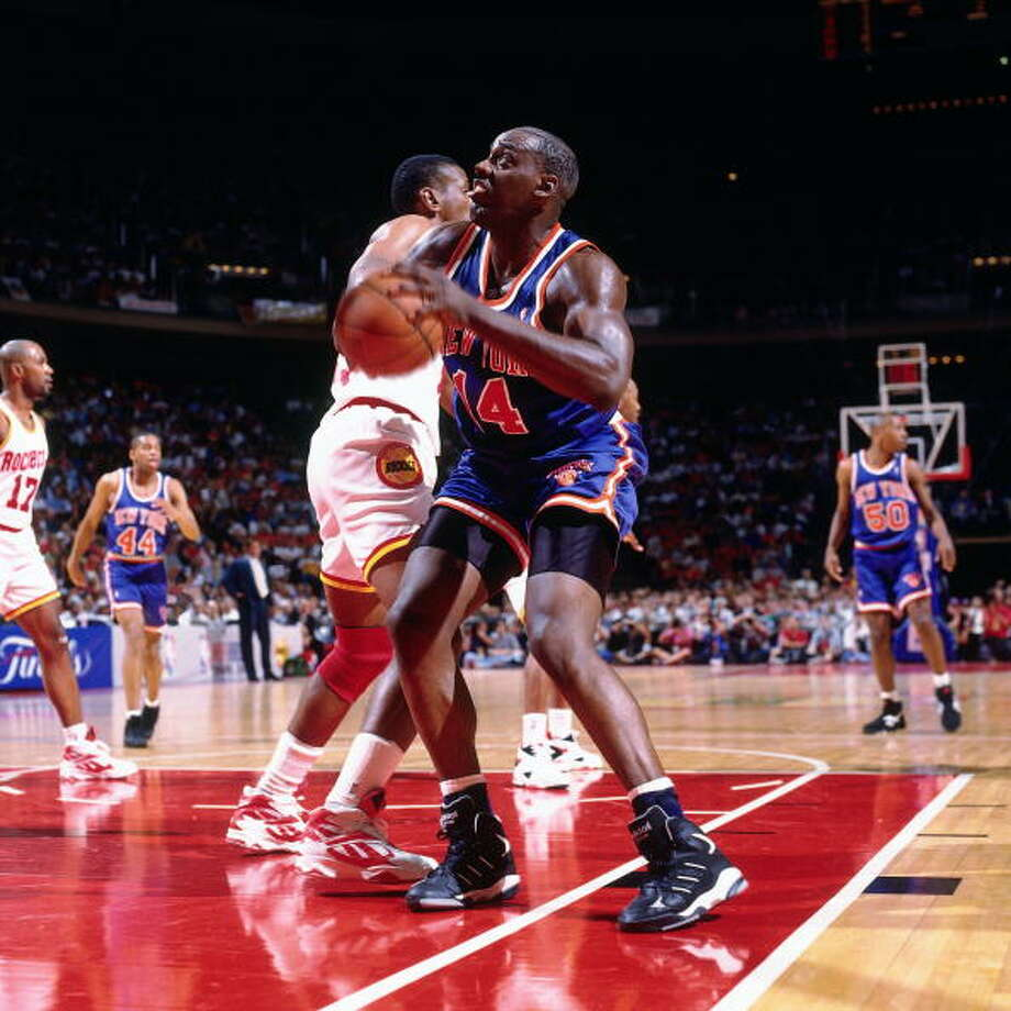 Game 2 - Friday, June 10, 1994Knicks 91, Rockets 83Series tied 1-1  Anthony Mason shoots against Otis Thorpe. Photo: Nathaniel S. Butler, NBAE/Getty Images / 1994 NBAE