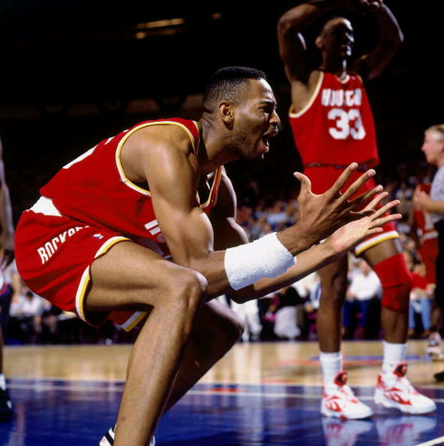 Game 3 - Sunday, June 12, 1994Rockets 93, Knicks 89Houston leads series 2-1  Robert Horry reacts to a call. Photo: Nathaniel S. Butler, NBAE/Getty Images / 1994 NBAE
