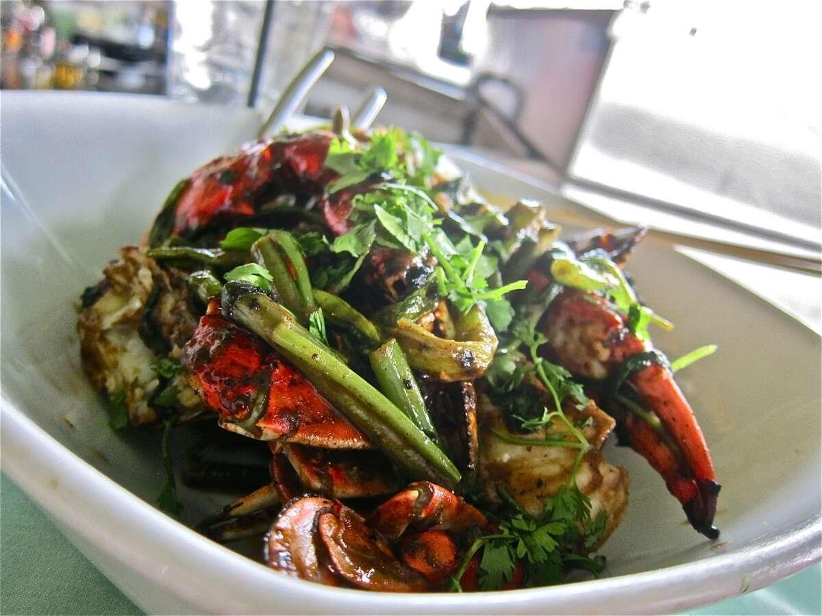 Reef Cuisine: Seafood Dish:Tamarind Texas blue crabs Entree price: $$$ Where: 2600 Travis Phone: 713-526-8282 Website:reefhouston.com