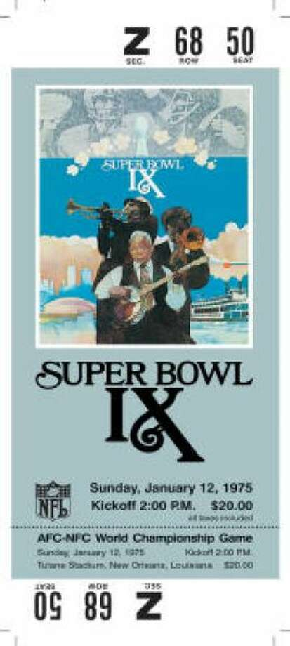 Super Bowl IX Date: Jan. 12, 1975 Location: Tulane Stadium, New Orleans Result: Pittsburgh 16, Minnesota 6 Price: $20 Photo: Photo By NFL