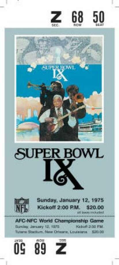Super Bowl IXDate:Jan. 12, 1975 Location: Tulane Stadium, New Orleans Result: Pittsburgh 16, Minnesota 6 Price: $20 Photo: Photo By NFL