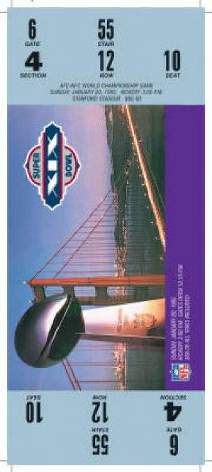 Super Bowl XIXDate: Jan. 20, 1985 Location: Stanford (Calif.) Stadium Result: San Francisco 38, Miami 16 Price: $60 Photo: Photo By NFL