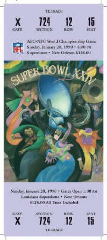 Super Bowl XXIV Date: Jan. 28, 1990 Location: Superdome, New Orleans Result: San Francisco 55, Denver 10 Price: $125 Photo: Photo By NFL