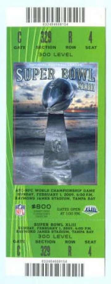 Super Bowl XLIII Date: Feb. 1, 2009 Location: Raymond James Stadium, Tampa, Fla. Result: Pittsburgh 27, Arizona 23 Price: $1,000, $800, $500 Photo: Photo By NFL