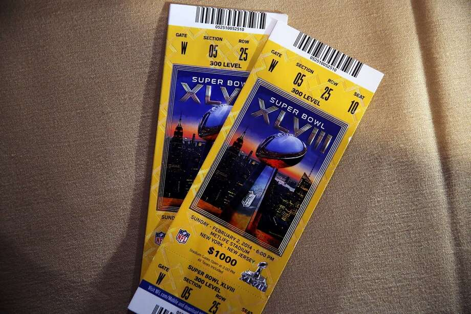 Super Bowl XLVIII Date: Feb. 2, 2014 Location: MetLife Stadium, East Rutherford, New Jersey Result: Seattle 43, Denver 8 Price: $1,200-$3,200 Photo: Spencer Platt, Getty Images