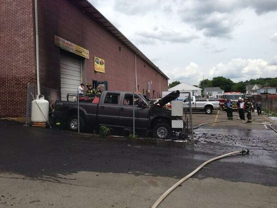 The fire completely gutted the pickup truck. Photo: Alfonso Robinson, Contributed Photo
