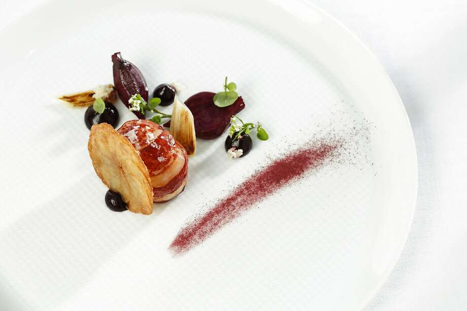 """Beets and Leeks,"" one of the dishes at The French Laundry, is seen on Thursday, May 29, 2014 in Yountville, Calif. Photo: Russell Yip, The Chronicle"