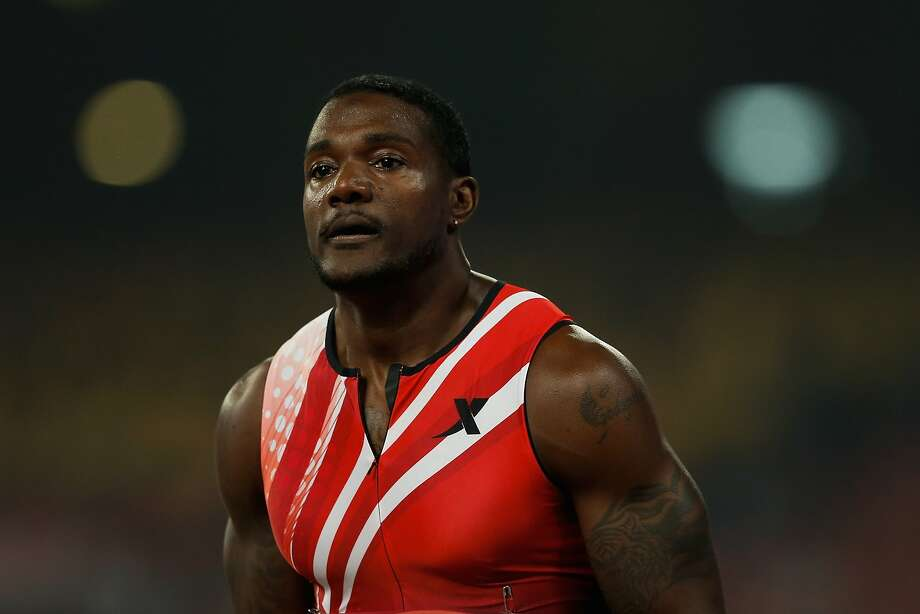 BEIJING, CHINA - MAY 21: Justin Gatlin of the United States celebrates winning the Men's 100m during 2014 IAAF World Challenge Beijing at National Stadium on May 21, 2014 in Beijing, China. (Photo by Lintao Zhang/Getty Images) Photo: Lintao Zhang, Getty Images