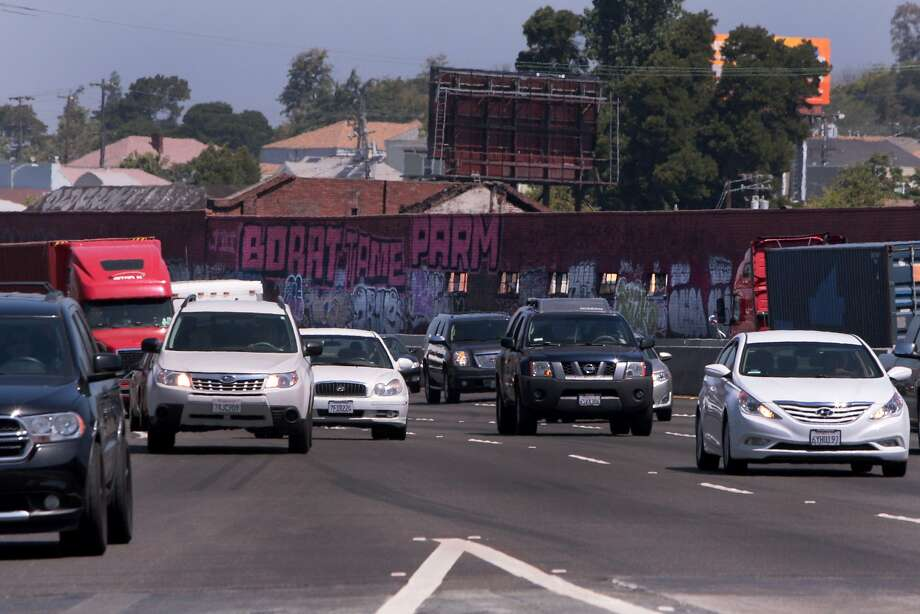 Graffiti lines buildings and overpass support pillars along Interstate 880 between 16th and Fruitvale avenues in Oakland, Calif. on Wednesday, June 4, 2014. Photo: Kevin N. Hume, The Chronicle