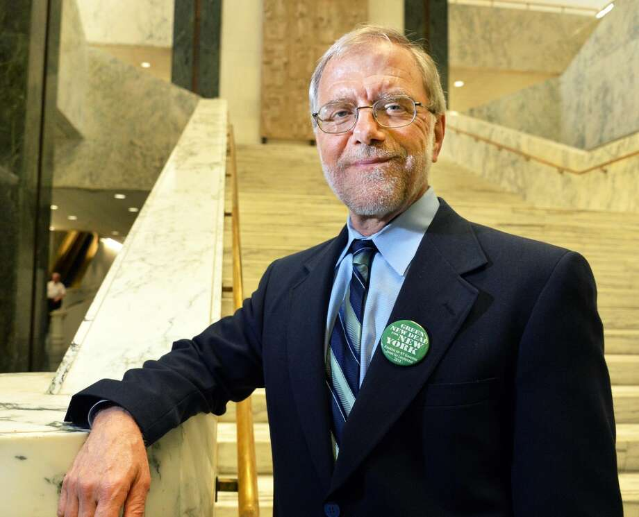 Howie Hawkins, the Green Party nominee to Governor, is pictured Wednesday, June 4, 2014, at the Legislative Office Building in Albany, N.Y.  (John Carl D'Annibale / Times Union) Photo: Albany Times Union