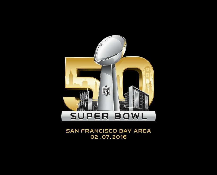 The National Football League released today logos for Super Bowl 50 slated for Sunday, February 7, 2016 at Levi's Stadium in Santa Clara, Calif.   To further elevate and celebrate the historic 50th Super Bowl, the NFL will break for one year its unique tradition of using Roman numerals to identify that season's championship game.    The logo design builds on the permanent Super Bowl identity established in 2011 for Super Bowl XLV that positions the Lombardi Trophy with the host stadium. The Super Bowl 50 regional logo features the Lombardi Trophy in front of Levi's Stadium, the new home of the San Francisco 49ers. Reflected in the gold 50 are some of the iconic landmarks of the San Francisco Bay Area ghosted by the fog.      From left to right:     • Transamerica Pyramid  • Mandarin Oriental Hotel  • San Francisco Ferry Building  • Coit Tower  • Golden Gate Bridge  • Redwood trees from the Muir Woods National Monument Photo: NFL
