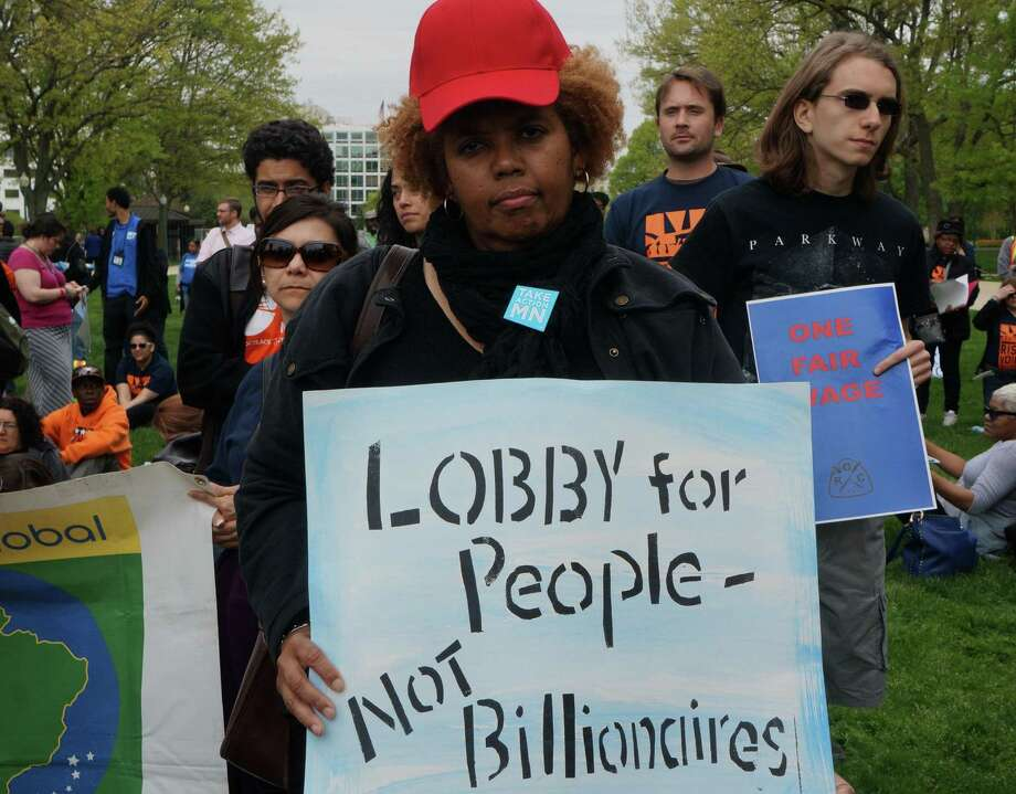 Income inequality is real, and  demonstrators make that point at the U.S. Capitol in April. Photo: McClatchy-Tribune File Photo / MCT