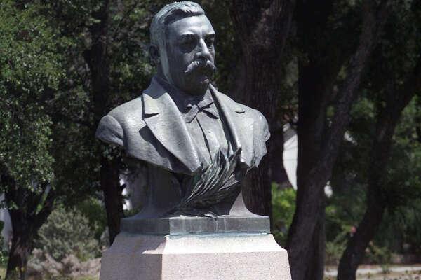 Statue of Ludwig Mahncke at Mahncke Park . July 7