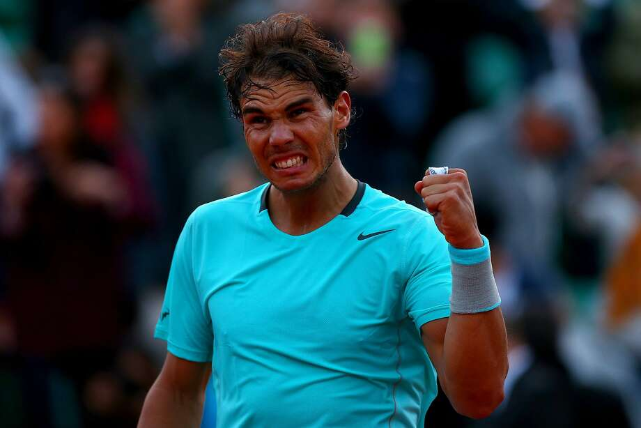Eight-time French Open champion Rafael Nadal celebrates after beating David Ferrer. Photo: Dan Istitene, Getty Images