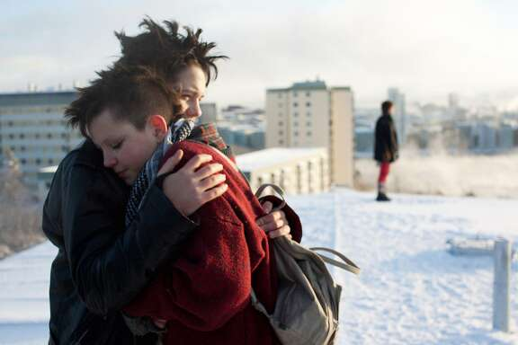 Jonathan Salomonsson, Mira Grosin and Mira Barkhammar in WE ARE THE BEST! a Magnolia Pictures release.