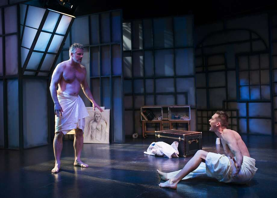 "Robert Rushin (left) and Keith Marshall in ""The Homosexuals"" at the New Conservatory Theatre Center. Photo: Lois Tema"