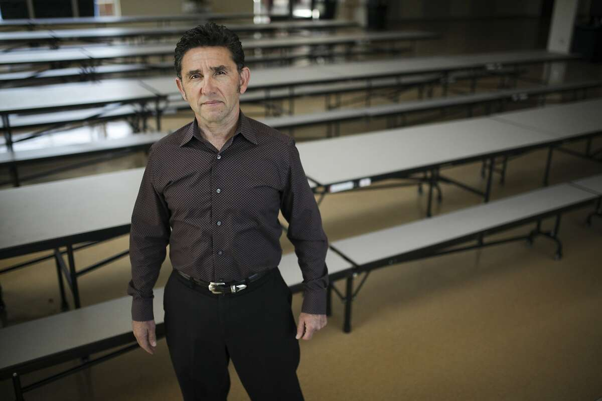 Miguel Villareal, director of food and nutritional services, poses for a portrait in the newly renovated lunch room at Novato High School in Novato on June 2nd 2014.