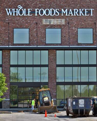 Work continues at the Whole Foods store at Colonie Center Wednesday, June 4, 2014, in Colonie, N.Y.  (John Carl D'Annibale / Times Union) Photo: John Carl D'Annibale / 00027184A