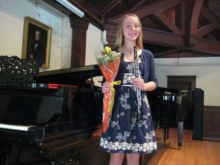 Oboist Kate Wegener, 13, of Easton, is one of three winners of the American Chamber Orchestra's 2014 Concerto Competition for gifted young musicians. All three will perform with the ACO on Saturday, June 14, in Fairfield. Photo: Contributed Photo / Connecticut Post Contributed