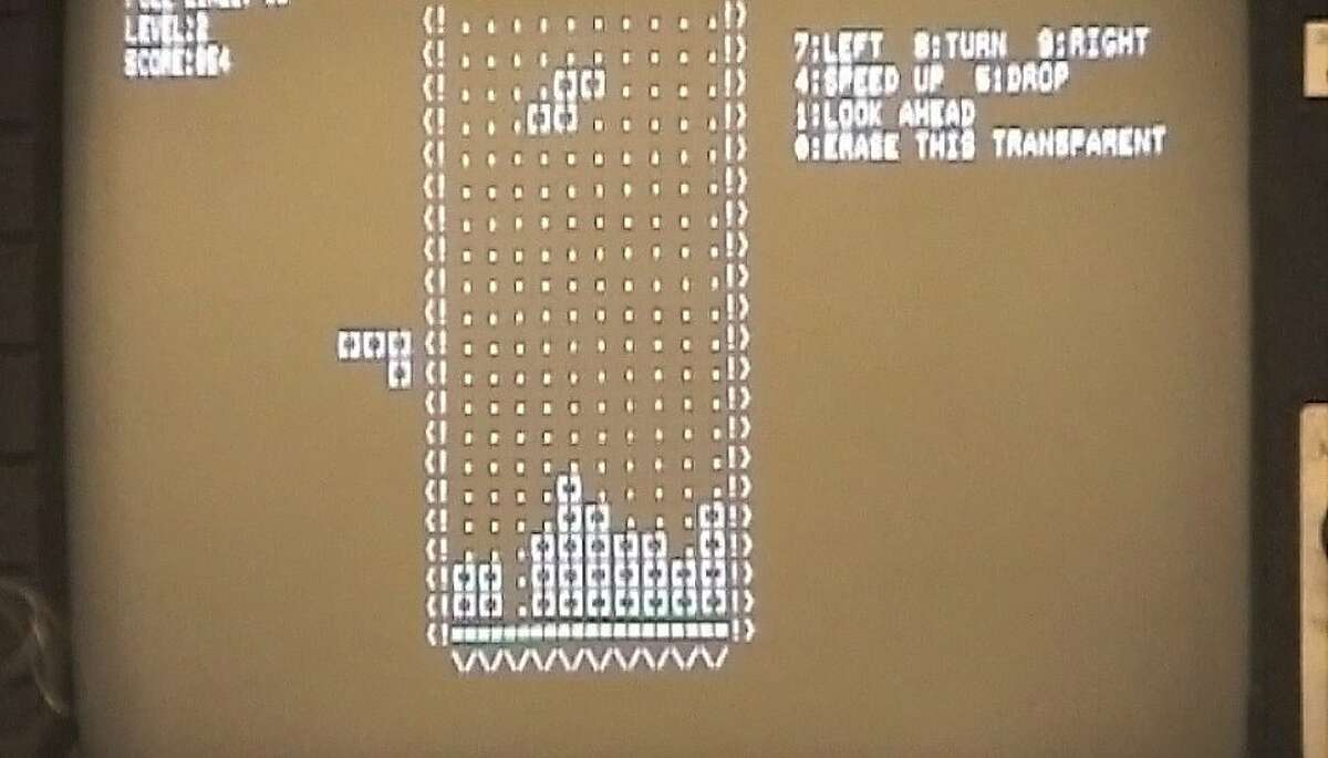 Photo of first incarnation of Tetris, the hugely popular computer game that turned 25 in June 2009.