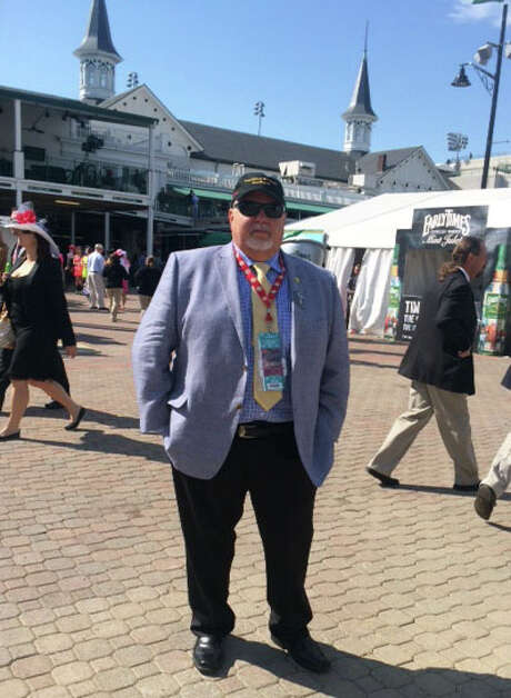Mike Lee, who is part owner of Commanding Curve. Commanding Curve will compete in the Belmont Stakes on Saturday. This photo is from Lee at the Kentucky Derby in May. Photo: Photo Courtesy Of Mike Lee / Photo courtesy of Mike Lee