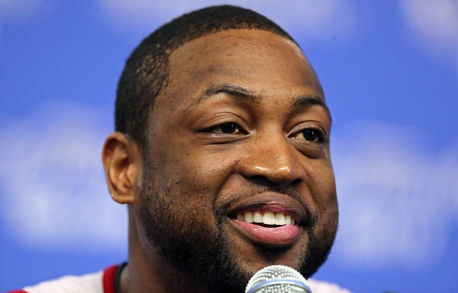 Miami Heat's Dwyane Wade answers questions from the media Wednesday, June 4, 2014, at the AT&T Center. The Spurs will play the Miami Heat in Game 1 of the NBA Finals Thursday at the AT&T Center. Photo: Edward A. Ornelas, San Antonio Express-News