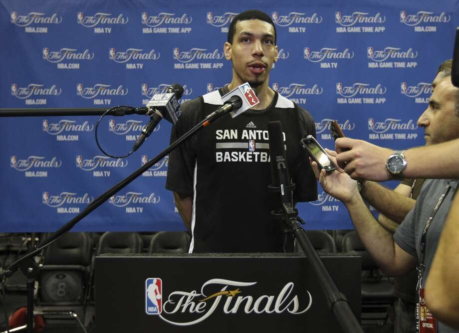 Spurs' Danny Green answers questions during the NBA Finals practice and media session at the AT&T Center on Wednesday, June 4, 2014. The Spurs will play Game 1 of the Finals against the Miami Heat on Thursday. Photo: Kin Man Hui, San Antonio Express-News