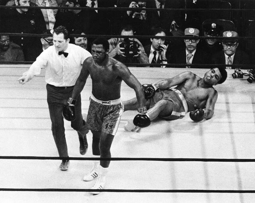 Smokin' Joe and The Greatest first collided in Madison Square Garden in 1971, with Frazier the victor. They rocked the Garden again in 1974, this time with Ali on top. The next year, the famous Thrilla in Manila brought the mighty rivalry to a mighty end with Ali the winner. It doesn't get any greater.