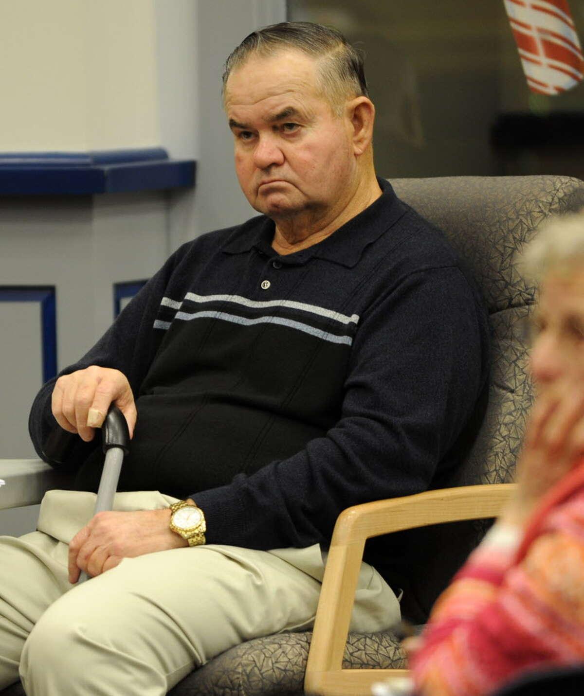 Walter Polak listens during a Halfmoon planning board meeting in December. Polak died Wednesday. (Lori Van Buren / Times Union archive)