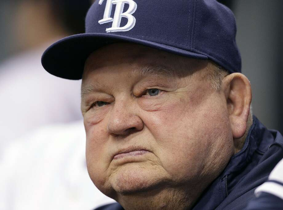 FILE - In this Sept. 1, 2010 file photo, Tampa Bay Rays special advisor Don Zimmer looks on during a baseball game between the Tampa Bay Rays and the Toronto Blue Jays in St. Petersburg, Fla. Don Zimmer, a popular fixture in professional baseball for 66 years as a manager, player, coach and executive, has died. He was 83.  (AP Photo/Chris O'Meara, File) Photo: Chris O'Meara, Associated Press