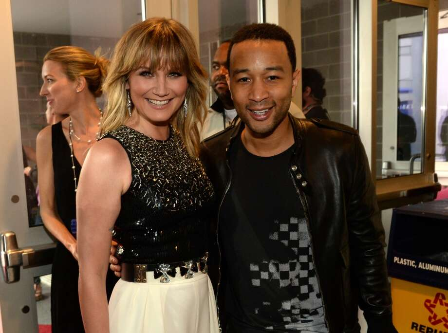 Jennifer Nettles and John Legend attend the 2014 CMT Music Awards at Bridgestone Arena on June 4, 2014 in Nashville, Tennessee. Photo: Rick Diamond, Getty Images For CMT