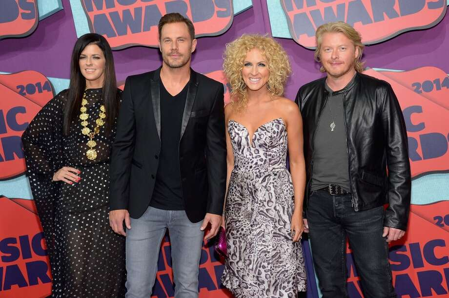 (L-R) Karen Fairchild, Jimi Westbrook, Kimberly Schlapman and Philip Sweet of 'Little Big Town' attend the 2014 CMT Music awards at the Bridgestone Arena on June 4, 2014 in Nashville, Tennessee. Photo: Michael Loccisano, Getty Images