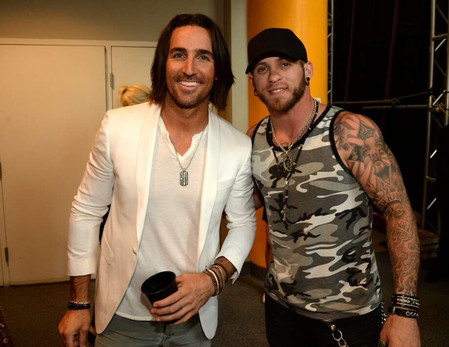 Jake Owen and Brantley Gilbert attend the 2014 CMT Music Awards at Bridgestone Arena on June 4, 2014 in Nashville, Tennessee. Photo: Rick Diamond, Getty Images For CMT