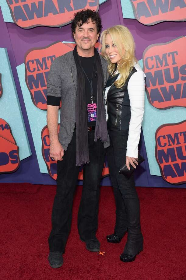 Scott Borchetta and Sandy Spika Borchetta attend the 2014 CMT Music awards at the Bridgestone Arena on June 4, 2014 in Nashville, Tennessee. Photo: Michael Loccisano, Getty Images