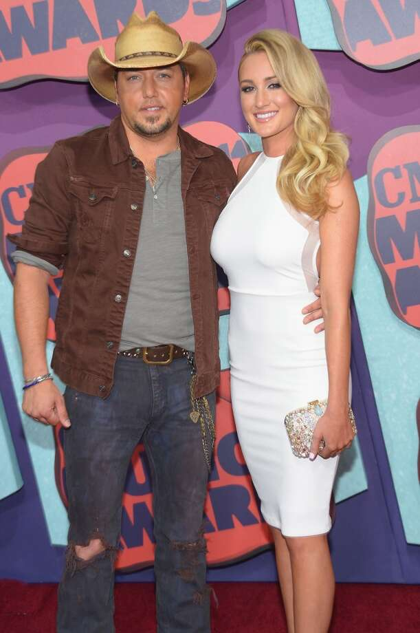 Jason Aldean and Brittany Kerr attend the 2014 CMT Music awards at the Bridgestone Arena on June 4, 2014 in Nashville, Tennessee. Photo: Michael Loccisano, Getty Images