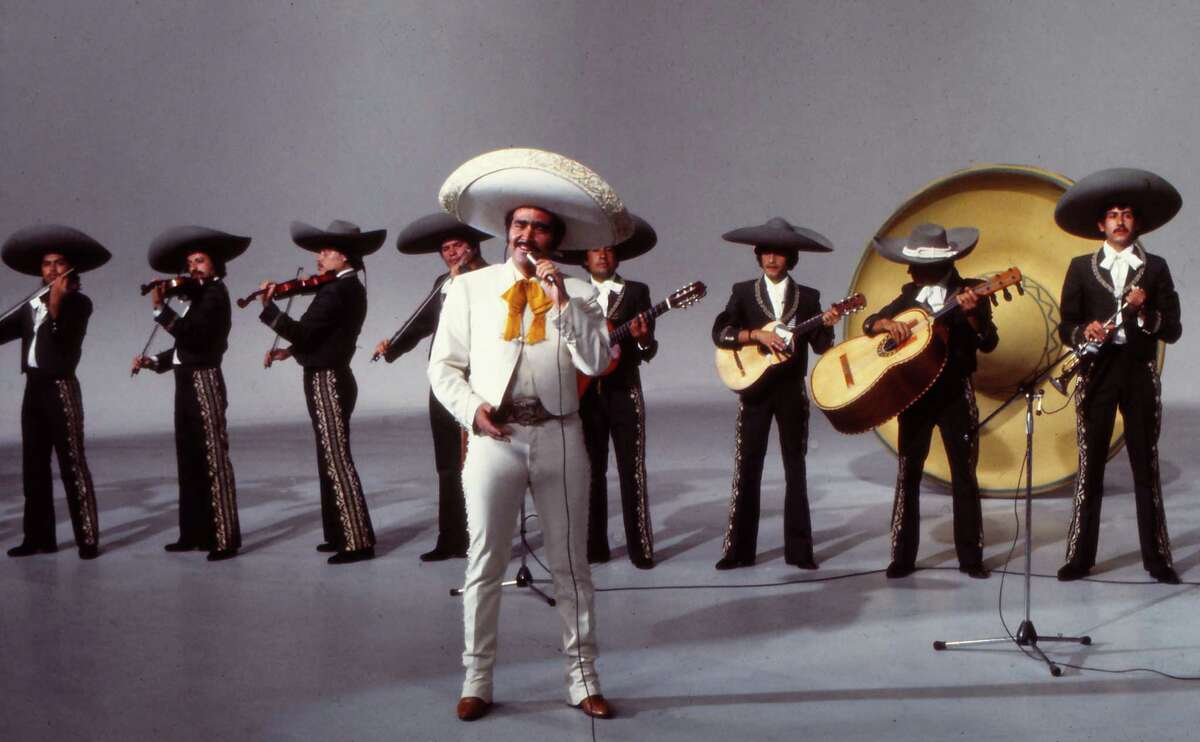 Mexican singer Vicente Fernandez performs during a 1978 show in Madrid, Spain.