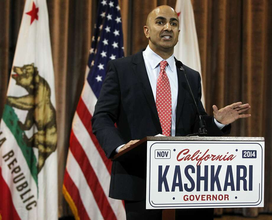 California Republican gubernatorial candidate Neel Kashkari speaks at a news conference on Wednesday, June 4, 2014, in the Corona Del Mar area of Newport Beach, Calif. Kashkari won his party's primary, advancing to the general election to face Gov. Jerry Brown in November 2014. Photo: Alex Gallardo, Associated Press