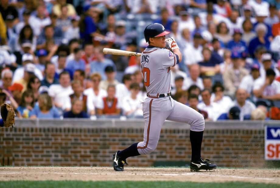 "Best: 1990. Chipper Jones Third baseman | Atlanta Braves | The Bolles School (Jacksonville, Florida) Career MLB stats: 2,499 games played, .303 batting average, 468 home runs, 1,623 RBIs ""Chipper"" — or Larry Wayne, if you want to get formal — was an institution in Atlanta for 19 years, helping the Braves to the 1995 World Series title in his first season with the club. The eight-time All-Star would go on to have six seasons with 30 or more home runs while holding down the hot corner, and was named National League MVP in 1999 when he hit .319 with a career-high 45 home runs and 110 RBIs. In 2008 he led the league in hitting at age 36, and retired following the 2012 season. Photo: Ron Vesely, Getty Images"