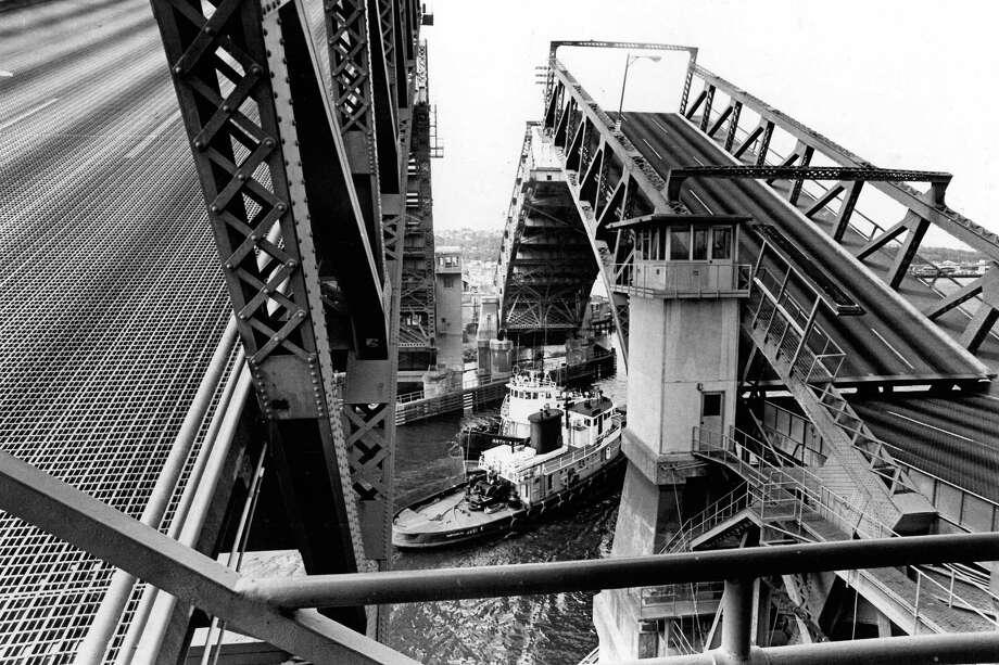 October 1977 - Spokane St. Bridge. Photo: FILE PHOTO, SEATTLEPI.COM / SEATTLEPI.COM