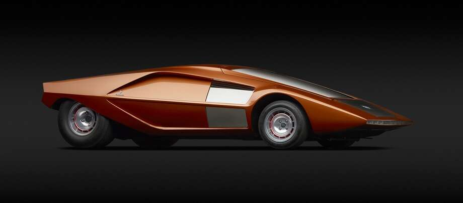 Lancia (Bertone)  Stratos HF Zero,  1970. Designed by Marcello  Gandini. Courtesy XJ Wang Collection. Photo by Michael Furman.