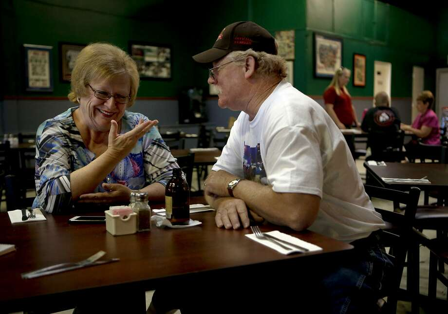 "Steve and Carolyn Coburn, on Tuesday May 27, 2014, during a visit to their favorite restaurant, Hamdogs, in Gardnerville, Nevada. They are the co-owners of the horse ""California Chrome."" Photo: Michael Macor, The Chronicle"