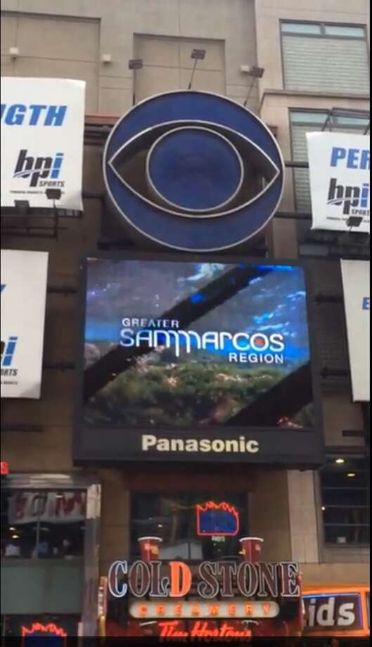 San Marcos ad in New York City Photo: Courtesy