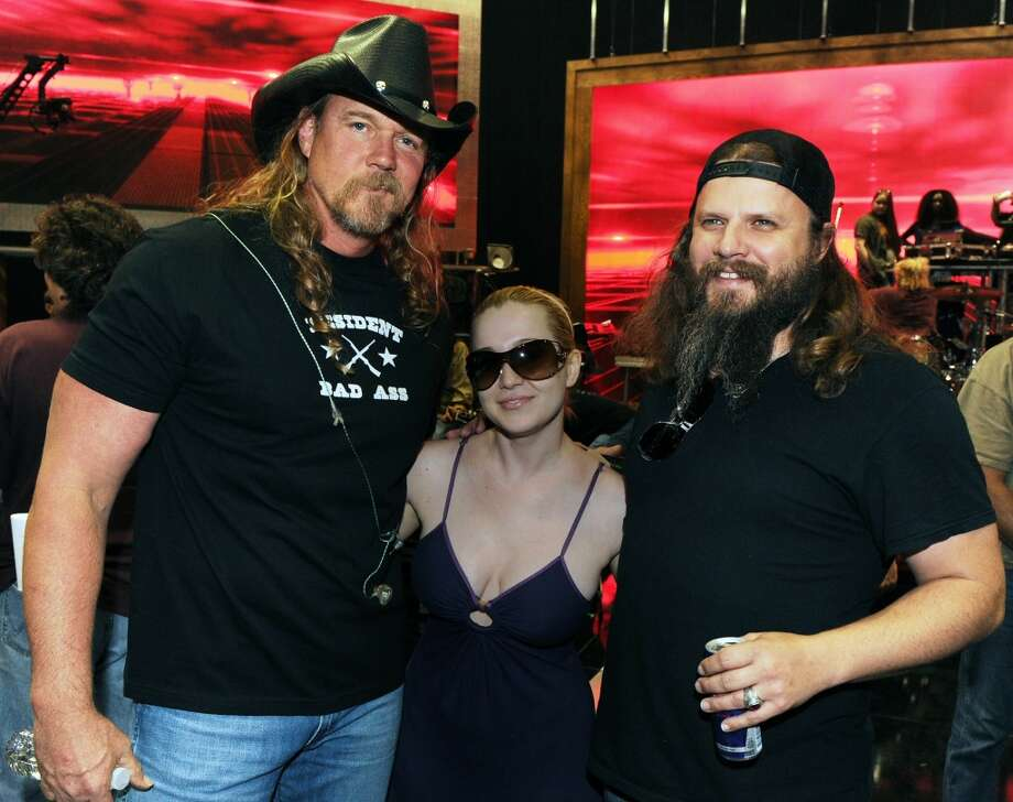Recording Artist Trace Adkins, Recording Artist Kellie Pickler and Recording Artist Jamey Johnson during the 2010 CMT Awards - Rehearsals at Bridgestone Arena on June 8, 2010 in Nashville, Tennessee.  (Photo by Rick Diamond/Getty Images for CMT) Photo: Rick Diamond, Getty Images For CMT