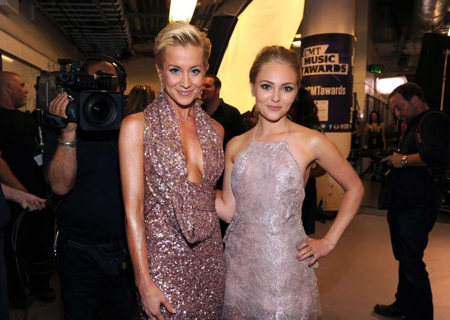 Kellie Pickler, left, and AnnaSophia Robb pose backstage at the 2013 CMT Music Awards at Bridgestone Arena on Wednesday, June 5, 2013, in Nashville, Tenn. (Photo by Frank Micelotta/Invision/AP) Photo: Frank Micelotta, Frank Micelotta/Invision/AP