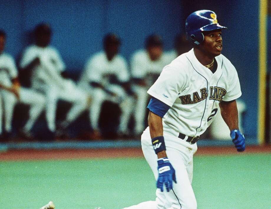 Ken Griffey Jr.Year: 1987Drafted by: Seattle MarinersPosition: OutfieldCareer: 13× All-Star, 1997 AL MVP, 4× AL home run champion, 10× Gold Glove Award winner. Photo: Gary Stewart, AP
