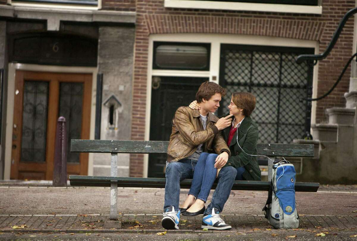 """Ansel Elgort and Shailene Woodley star as Gus and Hazel, in-love teenagers battling cancer, in """"The Fault in Our Stars,"""" based on the young-adult novel by John Green."""