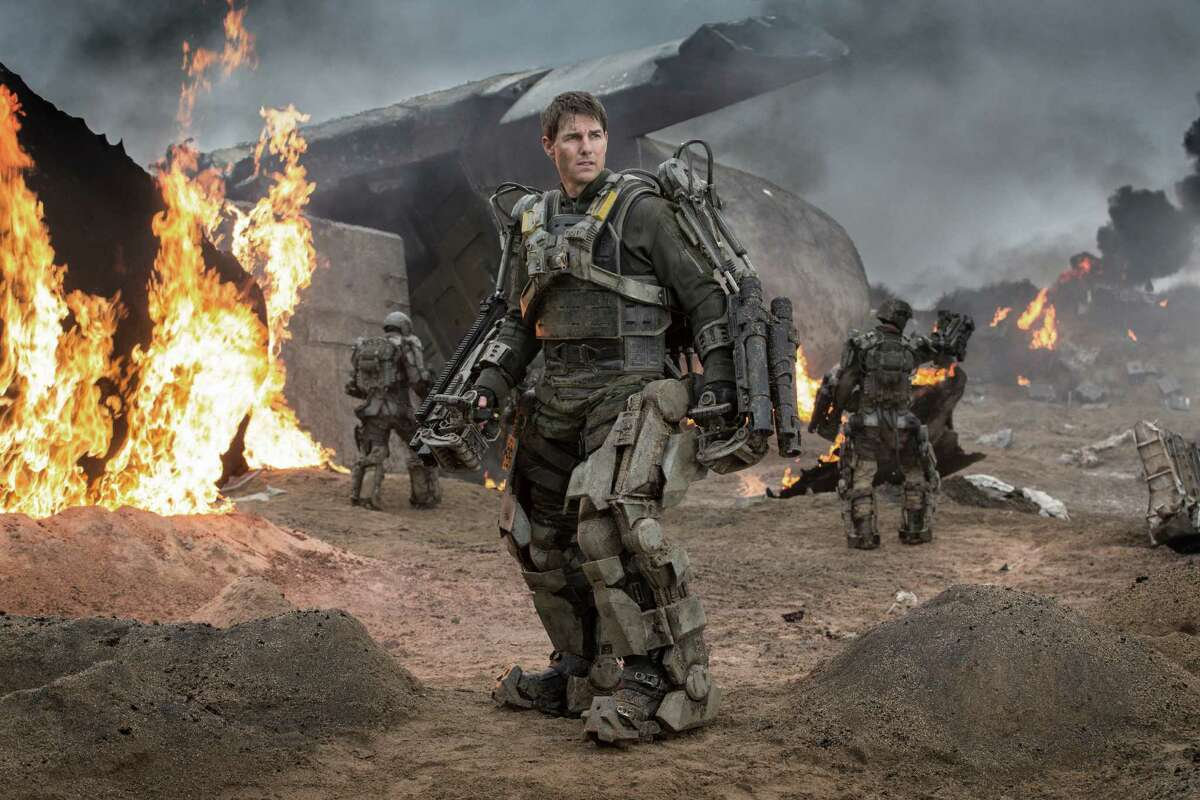 """This image released by Warner Bros. Pictures shows Tom Cruise in a scene from """"Edge of Tomorrow."""" (AP Photo/Warner Bros. Pictures, David James)"""