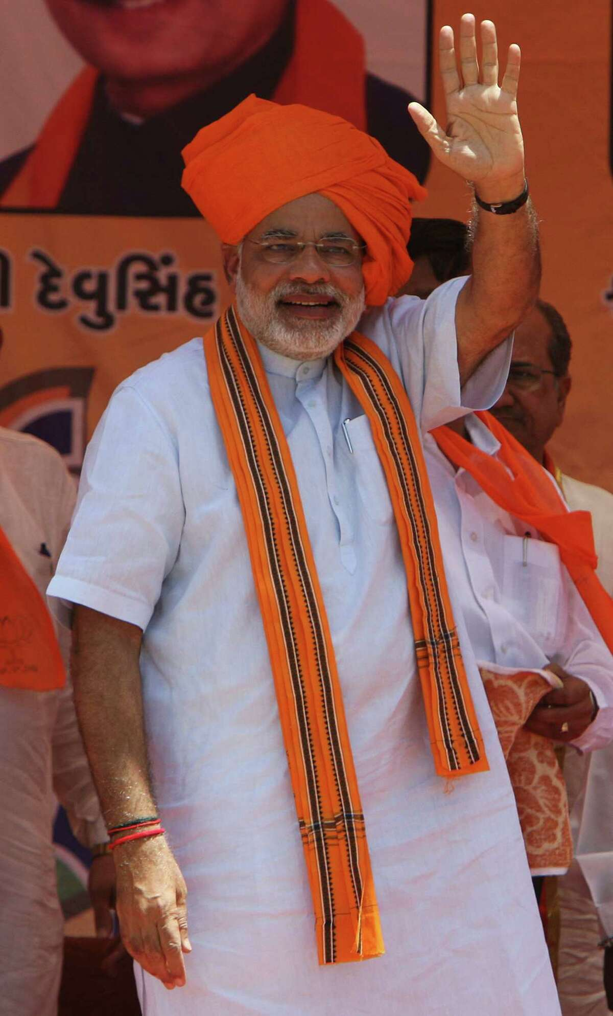 He has worn a unique garment so often that it is now officially named after him (the Modi Kurta, a revisionist version of the classic Indian tunic shirt with half-length sleeves)